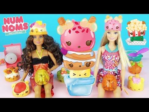 NUM NOMS Series 2 Игровые наборы Распаковка фигурок Сюрпризы Играем Барби Ням Ням Toys Surprise