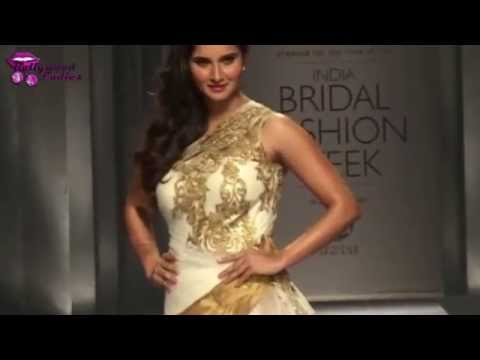 Sania Mirza Scorches The Ramp In Bridal Wear video