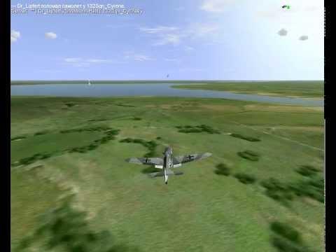 Messerschmitt Bf 109-G6 одновременный бой с тремя истребителями La-5