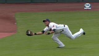 Brantley retires Getz with impressive catch