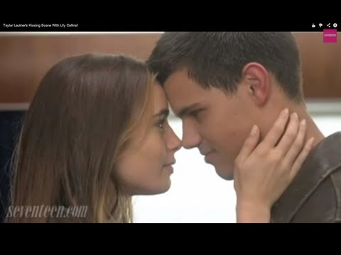 Taylor Lautner's Kissing Scene With Lily Collins!