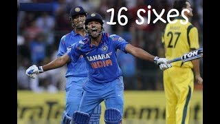 rohit sharma 209 destructive innings 16 sixes | punching strokes frightens australia