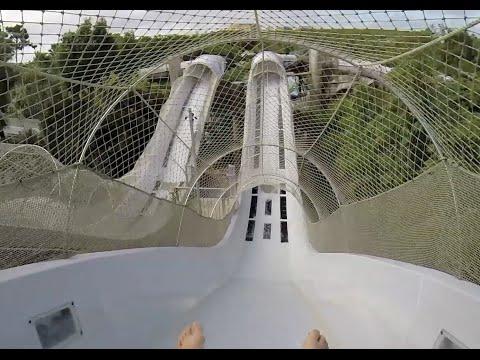 [HD] Crush n' Gusher - Coconut Crusher : Water Coaster at Typhoon Lagoon (Orlando, FL)