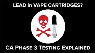 LEAD in Vape Carts?  CA Phase 3 Testing Explained