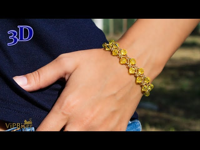 Sunny Beaded Bracelet. 3D Beading Tutorial