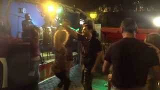 Salsa Music Beautiful Girls Dancing in Rome Near Tiber River