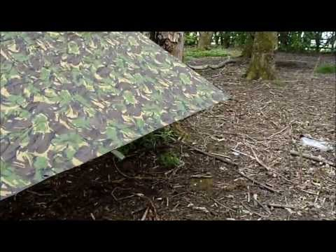 bushcraft: Budget bushcraft Army Surplus vol 1. Tarpbasha.