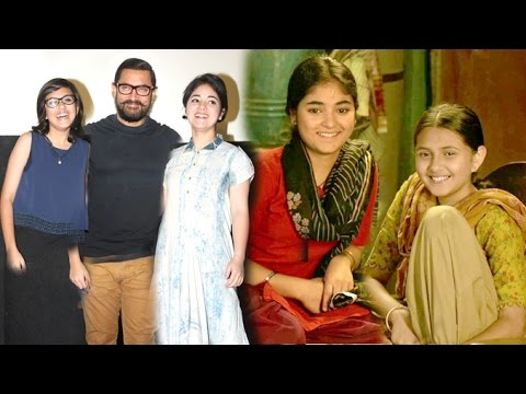 Aamir Khan's CUTE DANGAL Girls - Zaira Wasim and Suhani Bhatnagar thumbnail