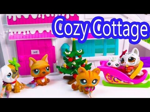 LPS Mommies Cozy Cabin Trip Vacation Littlest Pet Shop Part 4 of 4 Video Series Shopkins Season