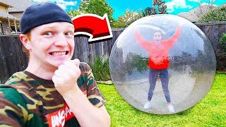 TRAPPING MY GIRLFRIEND IN A GIANT BUBBLE!