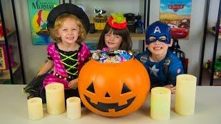 HUGE Halloween Pumpkin Surprise Bucket Surprise Toys My Little Pony Moana Trolls Kinder Playtime