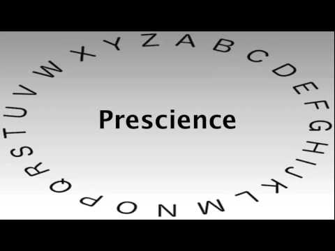 Spelling Bee Words and Definitions — Prescience