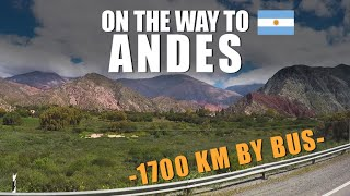 On the way to ANDES - 1700 km by bus | Travel Series [S1-E3] - South America 2017