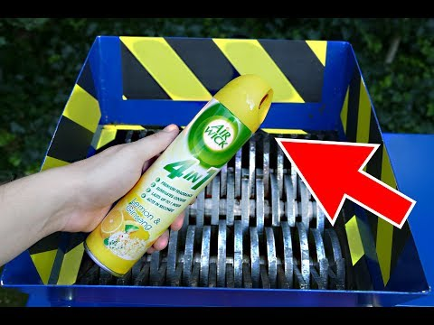 SHREDDING AIR WICK TOILET SPRAY - AIR FRESHENER ROCKET!