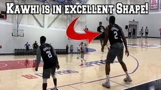 Kawhi Leonard and The Clippers Practice at an INSANELY FAST PACE after 2019 NBA Media Day