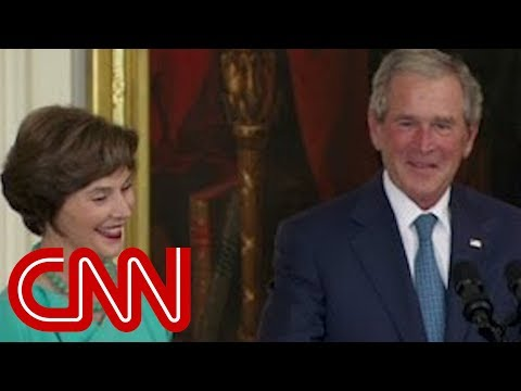 Bush s humorous return to White House