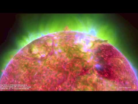 Ring-Shaped Prominence Spreads Out Across the Sun | NASA SDO Solar Space Science HD