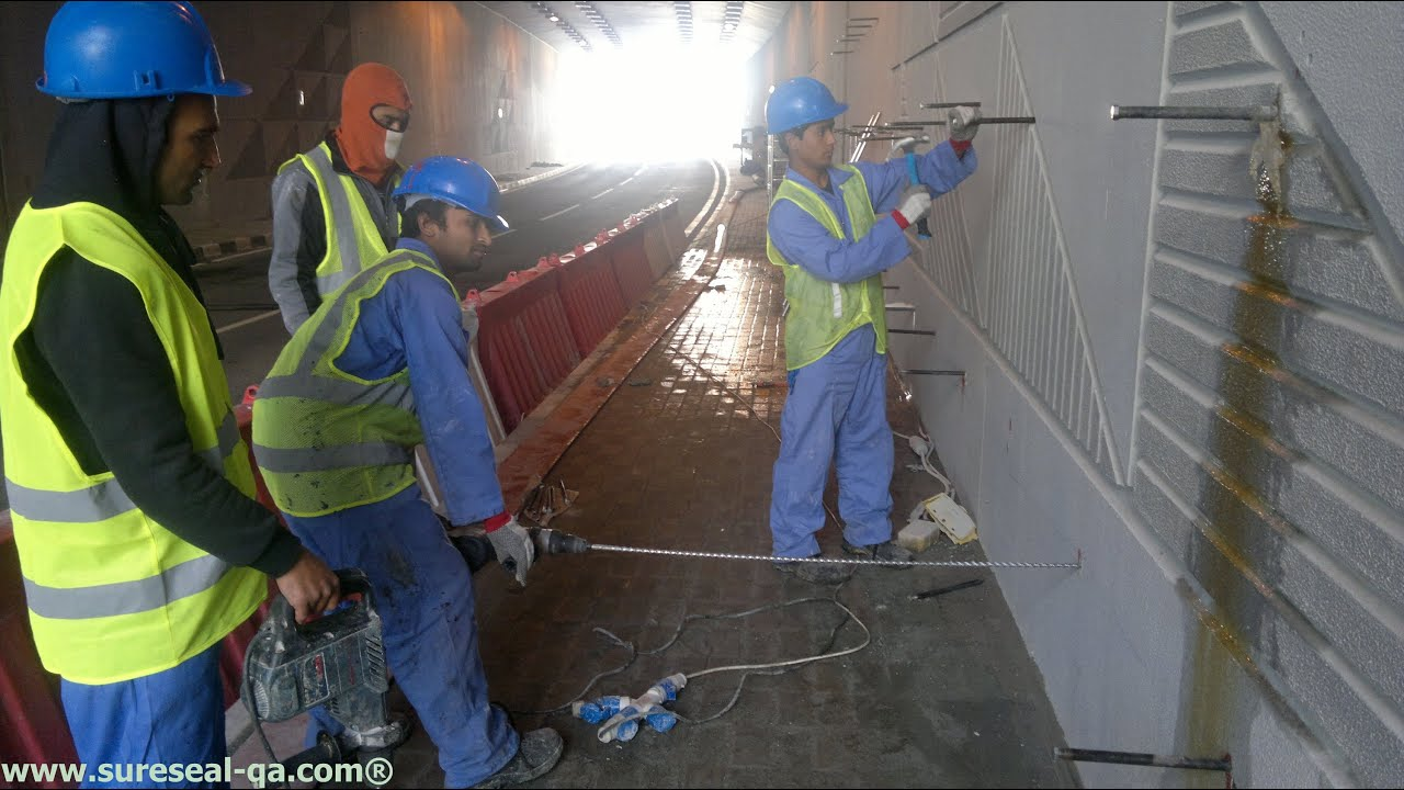 Crack Injection Leak Repair Sure Seal Qatar Youtube