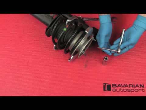 How to use a spring compressor on a BMW or MINI strut assembly