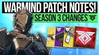 Destiny 2 News | WARMIND & UPDATE PATCH NOTES! All Exotic Buffs, Vendor Ranks, Weapon Changes & More