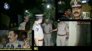 Hyderabad city police commissioner visit Nampally police station tonight