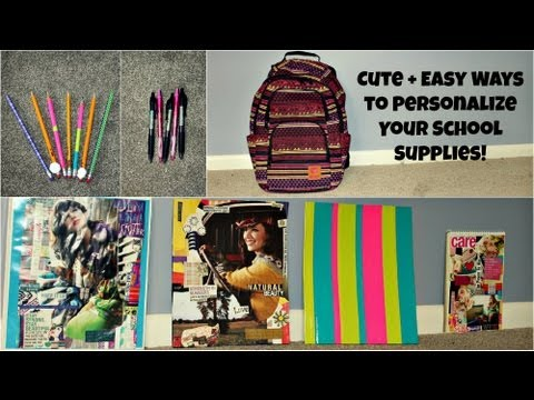 DIY: Cute & Easy Ways to Personalize Your School Supplies!