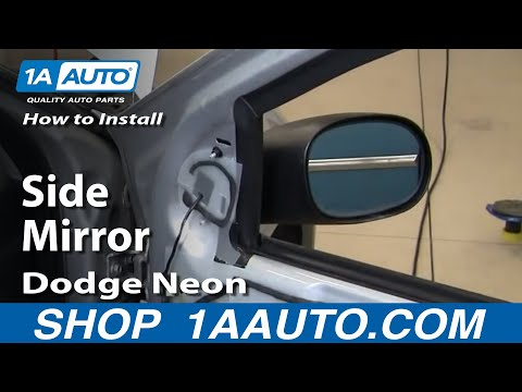 How To Install Replace Broken Side Rear View Mirror Dodge Plymouth Neon 00-05 1AAuto.com