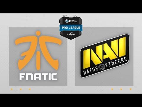CS:GO - Fnatic Vs. NaVi [Dust2] Map 2 - ESL Pro League Season 4 - EU Matchday 21