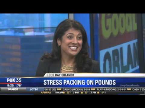Stress Causes Weight Gain, Foods that fight stress Dr. Romie on FOX 35 News Orlando