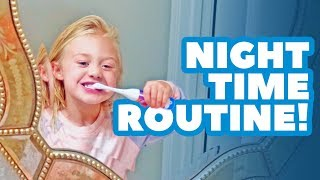 Everleigh's BACK TO SCHOOL night time routine!!!