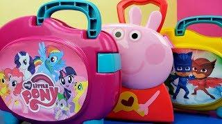 Maletas Surpresa Peppa Pig, My Little Pony e PJ Masks