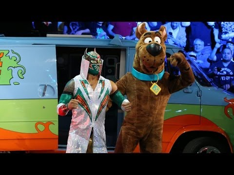 Sin Cara With Scooby-doo By His Side Battles Damien Sandow: Raw, March 24, 2014 video