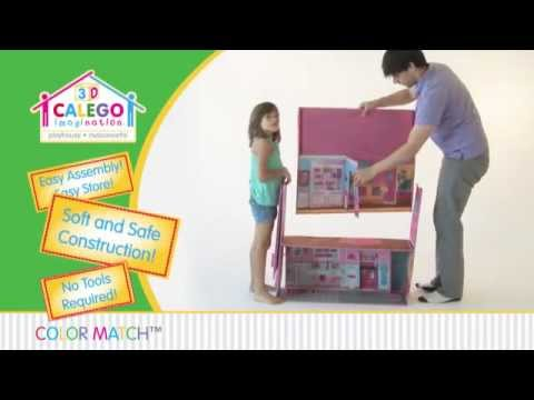 CALEGO 3D imagination(tm) Dollhouse! - YouTube