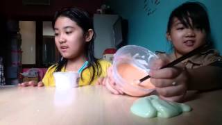 How to make Cotton candy slime......
