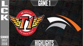 SKT vs HLE Highlights Game 1 - LCK Summer 2018 Week 5 Day - SK Telecom T1 vs Hanwha Life Esports G1