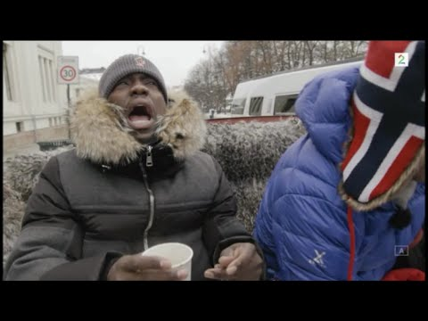 Kevin Hart and Ice Cube sightseeing in Oslo, Norway. FUNNY!