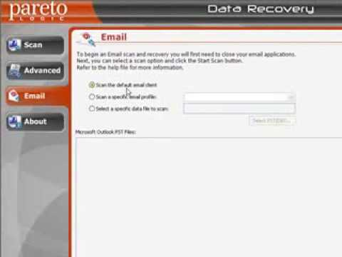 This is how recover deleated emails with Data Recovery Pro.
