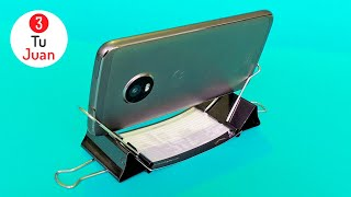 10 Most EASY and Quick Cell Phone Stands - DIY Crafts 📱