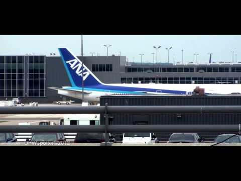 All Nippon Airways 777-300 Takeoff from Washington Dulles International Airport [HD]