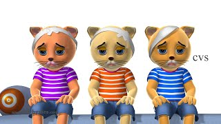Three Little Kittens & Five Little Kittens Jumping on the Bed - 3D Rhymes & Songs for Children