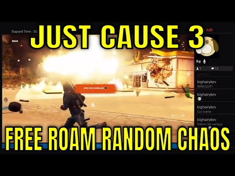 Just Cause 3 #10 - Free Roam Random Chaos