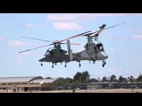 Unique Intermeshing-Rotor Helicopter Kaman K-MAX Landing