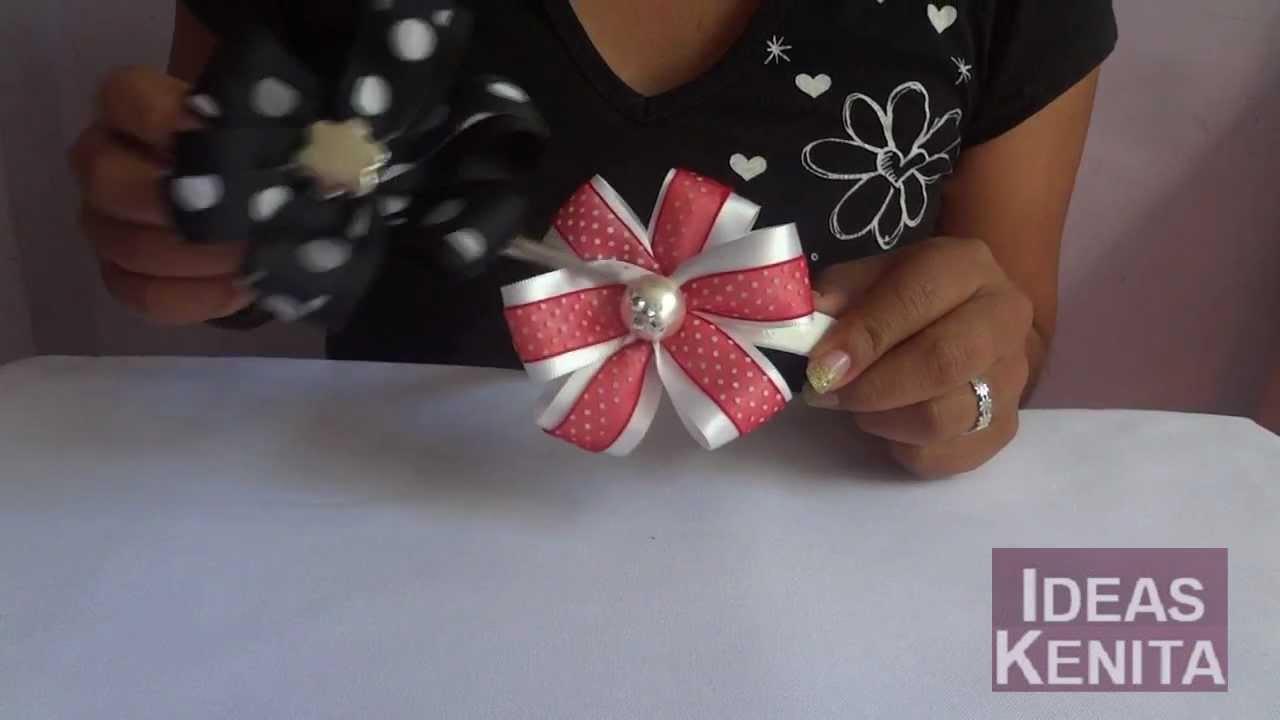 Flor de tela para diadema pasador o prendedor youtube - Flores de telas hechas a mano ...