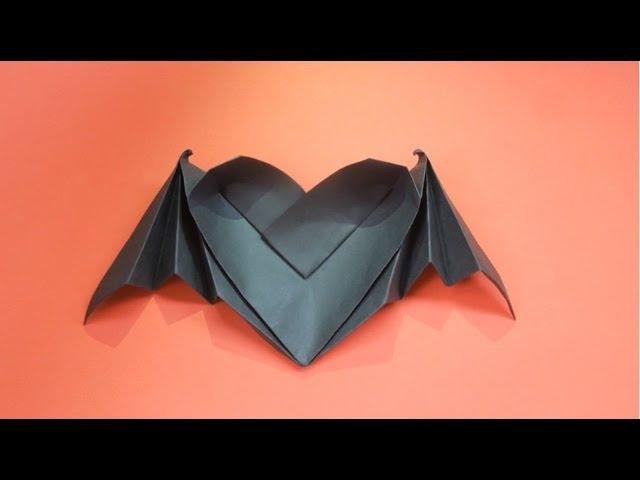 Как сделать из бумаги сердце с крыльями видео