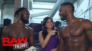Cedric Alexander and Rich Swann are ready to party after their victory: Raw Fallout, Sept. 26, 2016