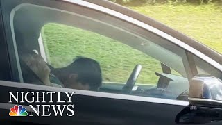 Tesla Driver Caught On Camera Apparently Asleep At The Wheel | NBC Nightly News