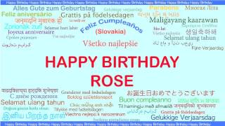 Rose   Languages Idiomas - Happy Birthday