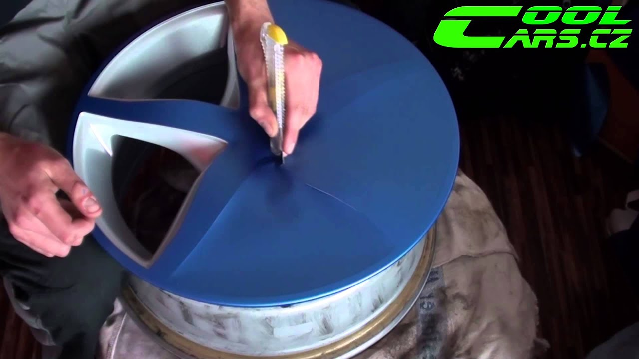 How To By Wrapping Rims In Matte Blue Vinyl Colorchange