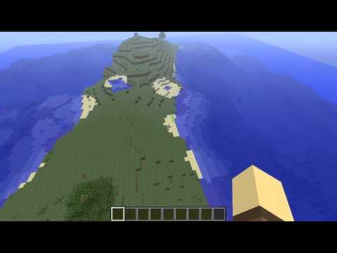 minecraft 1.4.7 survival island world seed (Ravine/Cave systems/Abandoned mine s