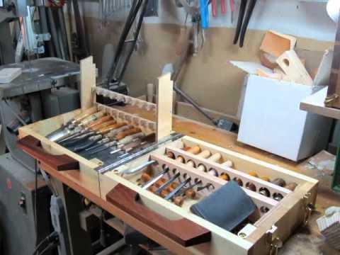 Wood carving tool box